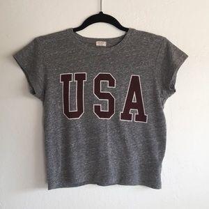 Brandy Melville USA Gray Crop Top